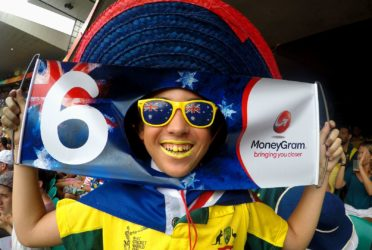 Liam Doig at the Cricket World Cup, 2015