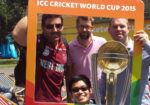 Michael Doig, Olly Scott, Phil Payne and Joshua Kim at the Cricket World Cup