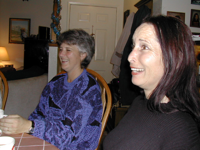 Christmas 2001 - Linda Leader & Lenee Barry