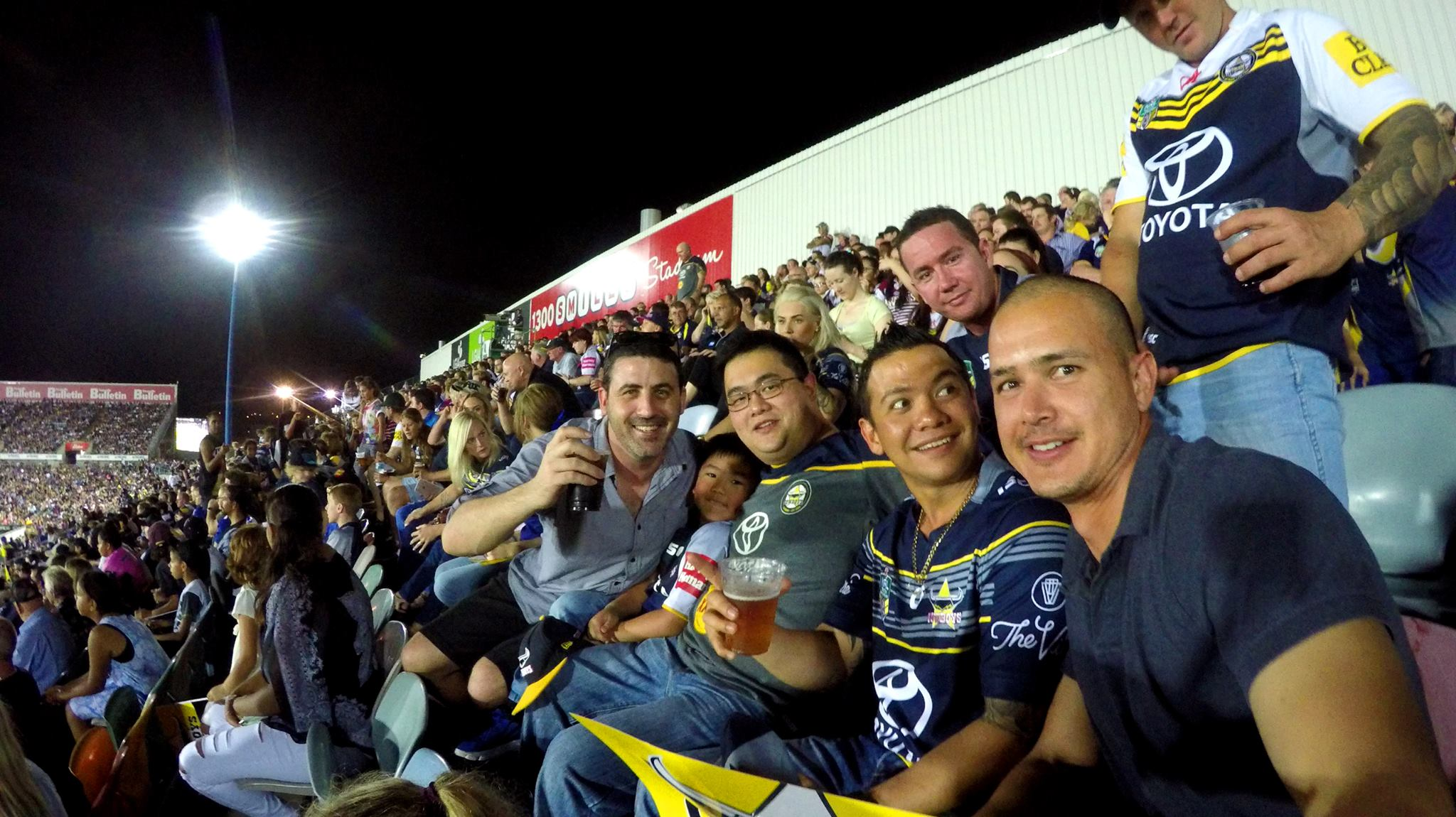 Friday night - Broncos vs Cowboys Semi Final with a few of the locals