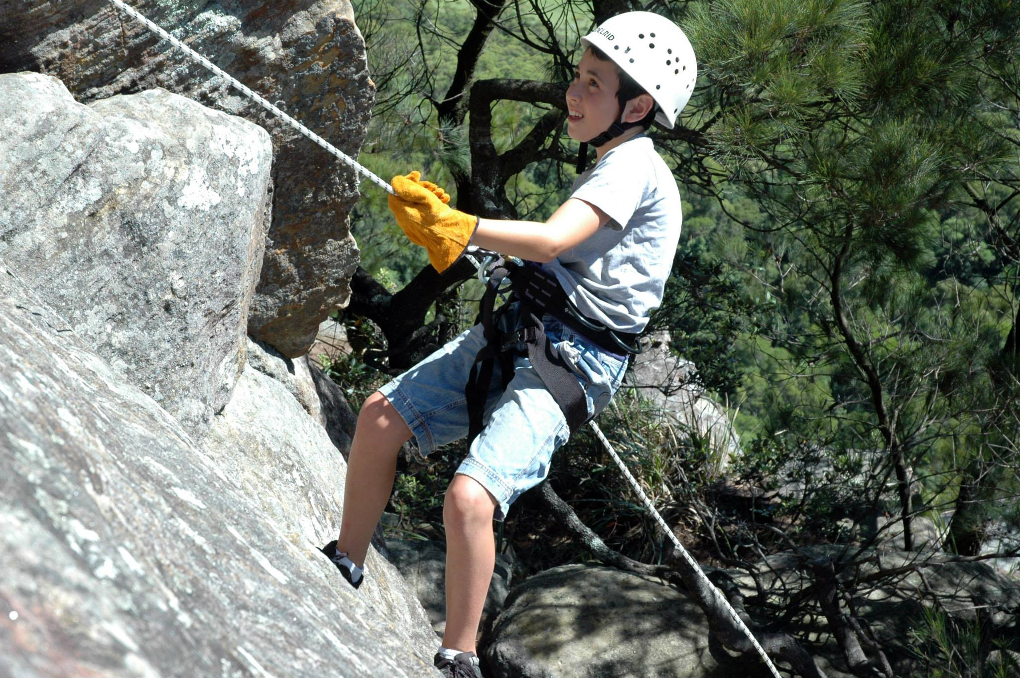 Liam Abseiling