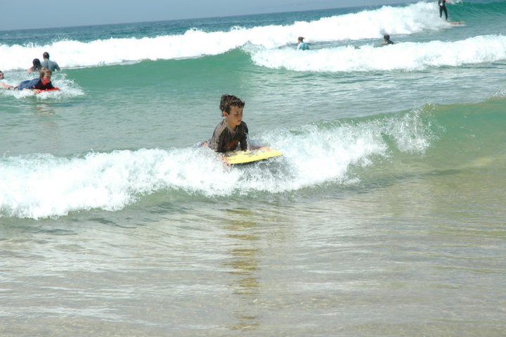 Liam surfing Narooma