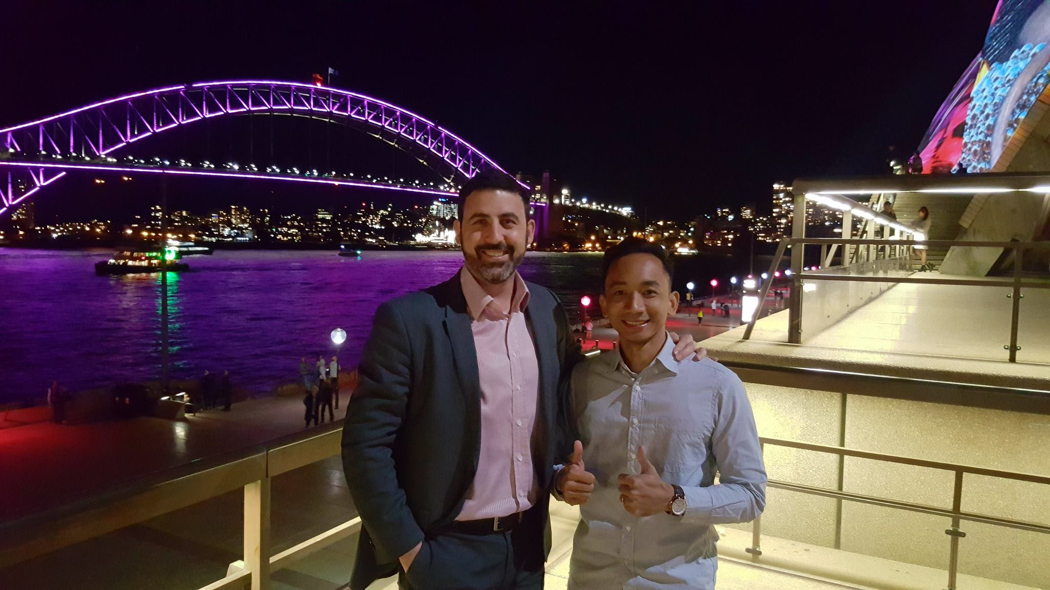 Michael Doig & Louie Rosales in Sydney