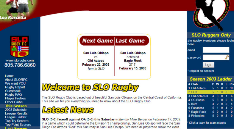 Working hard on the SLO Rugby site