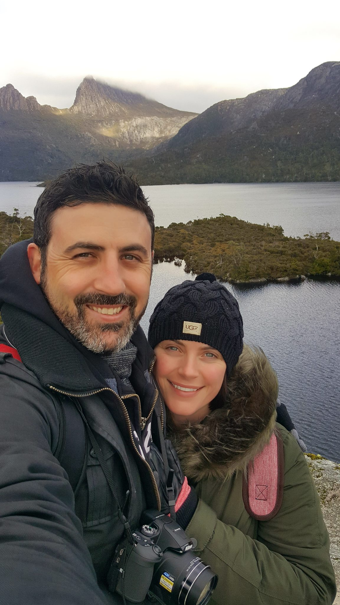 Michael Doig & Louise Connolly hiking Cradle Mountain