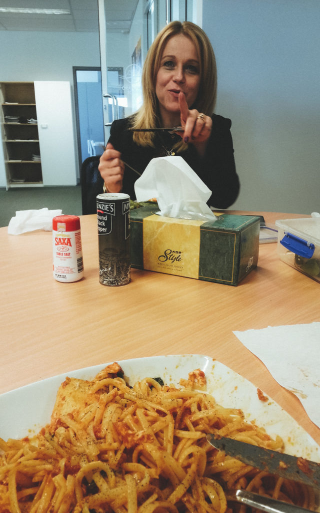 Goodbye Office Lunch with Lexie Sudy - I had better not be taking a photo!