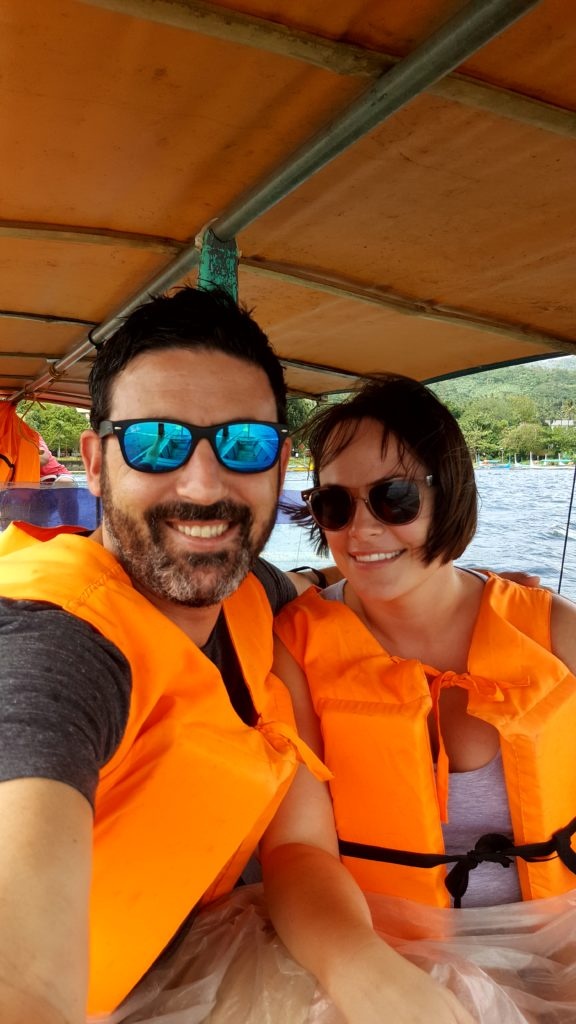 Michael Doig & Louise Connolly cruising to Taal Volcano in the Philippines