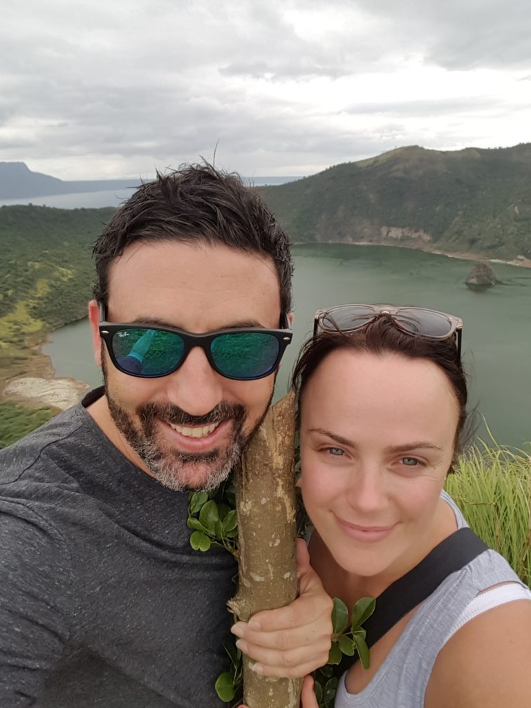 Michael Doig & Louise Connolly at Taal Volcano in the Philippines