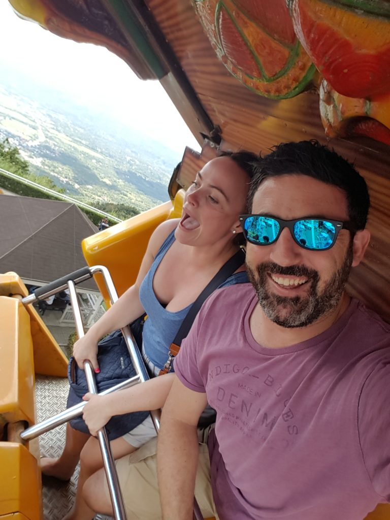 Michael Doig & Louise Connolly at Sky Ranch, Tagaytay in the Philippines