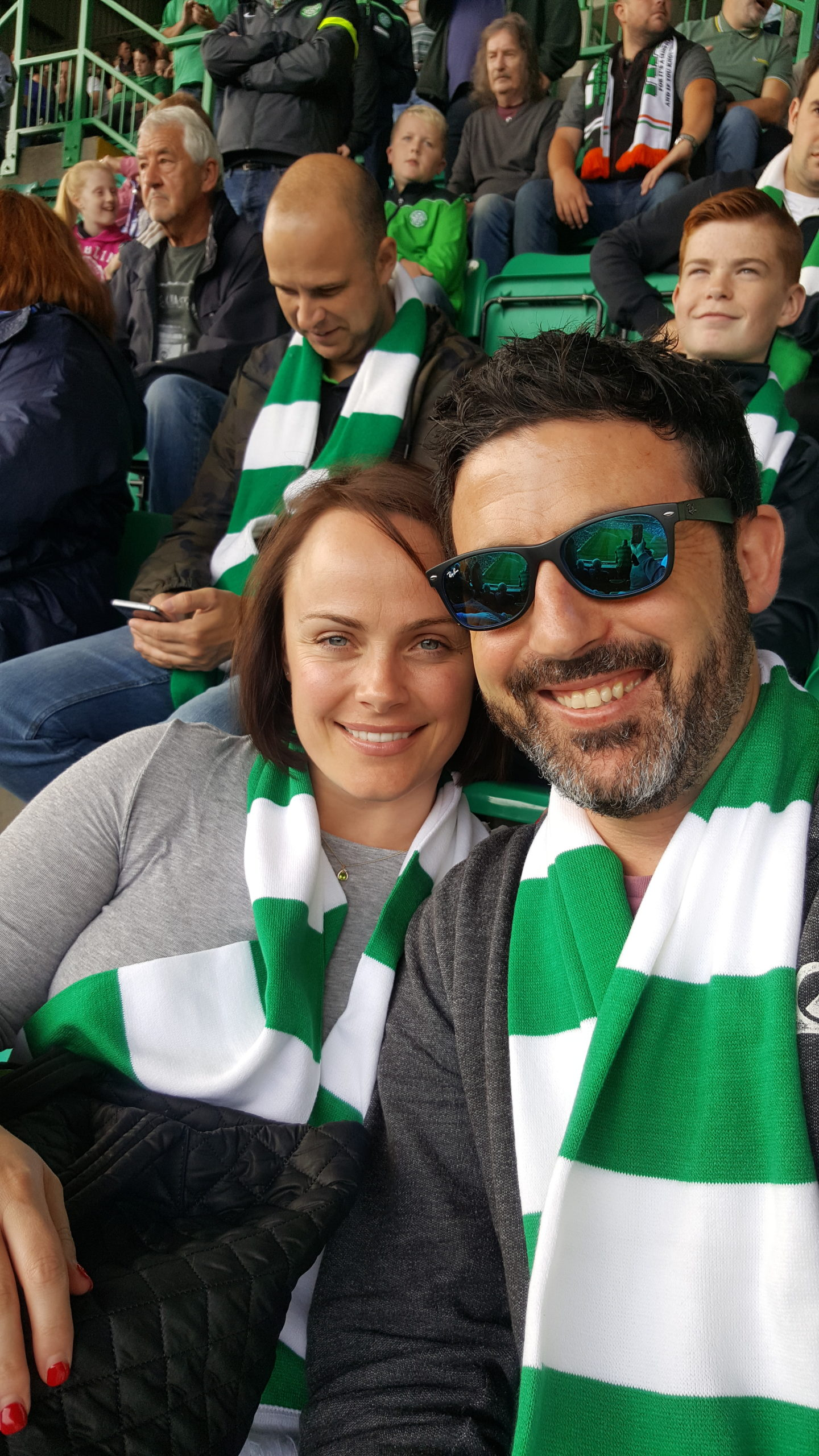 Michael Doig & Louise Connolly at Celtic Park