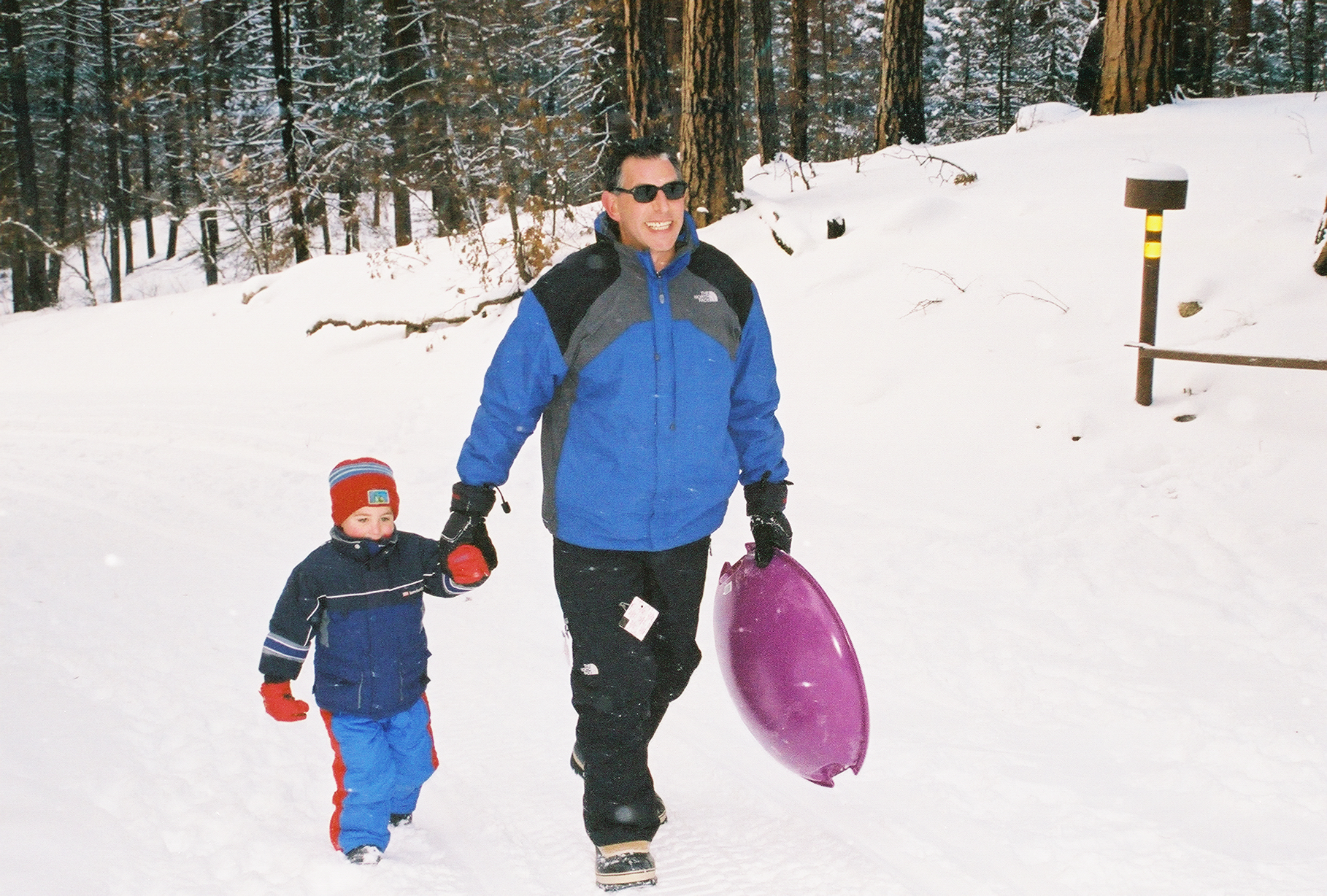 Brian Leader and Nevan in the snow