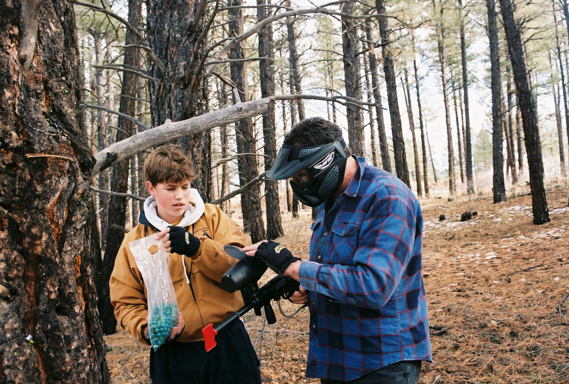 Paintball - Brian and Josiah Leader