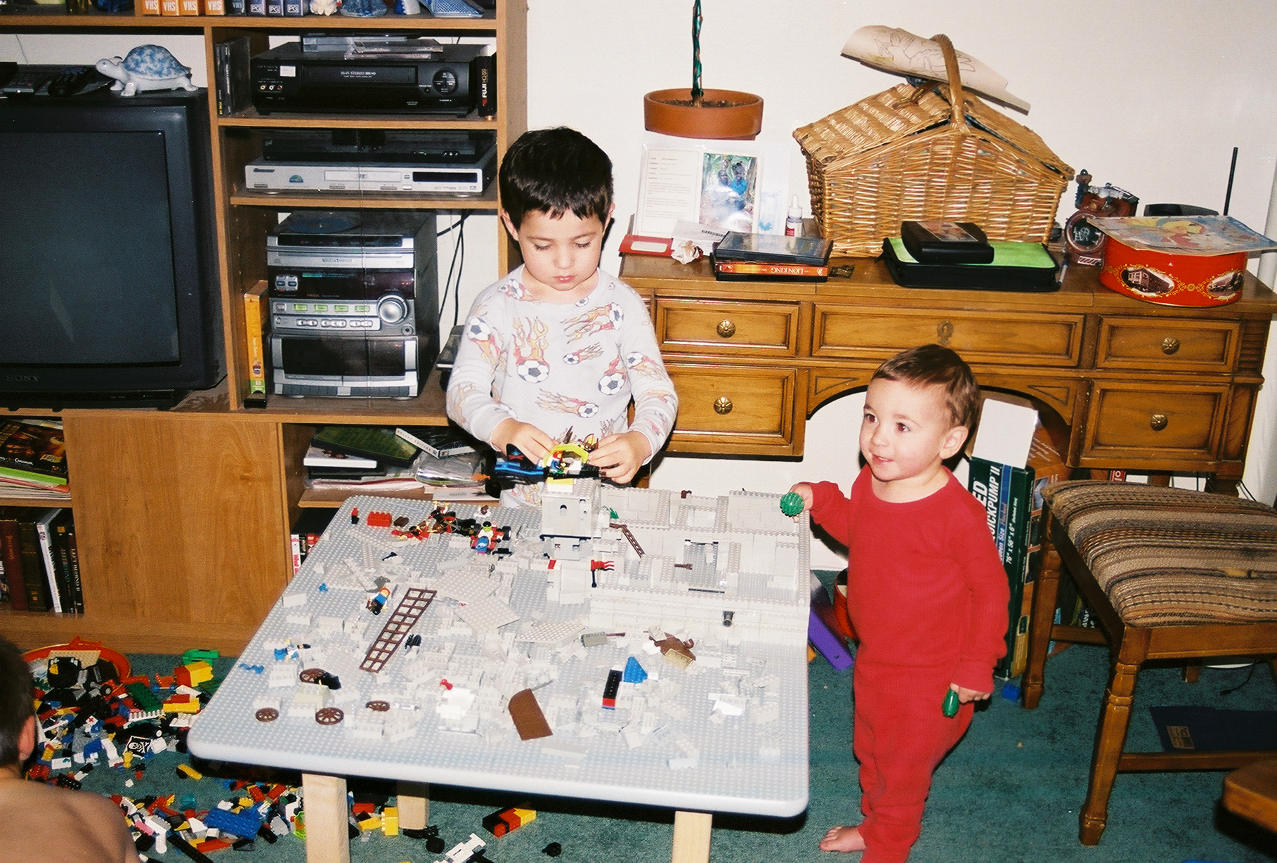Nevan and Liam playing