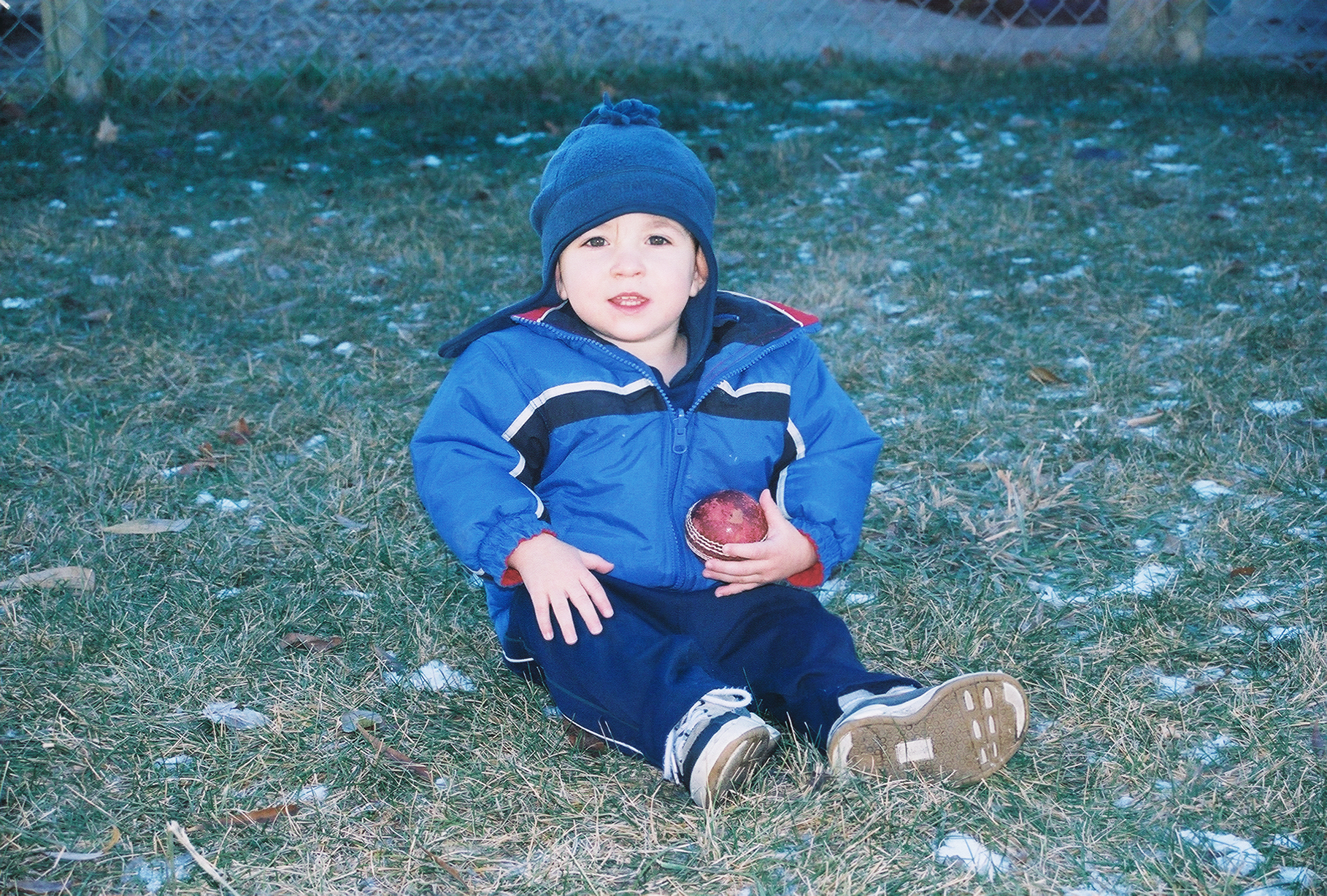 Liam in the yard