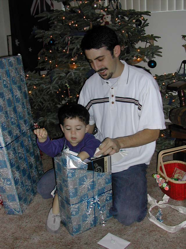 Christmas 2001 - Michael Doig & Nevan Doig