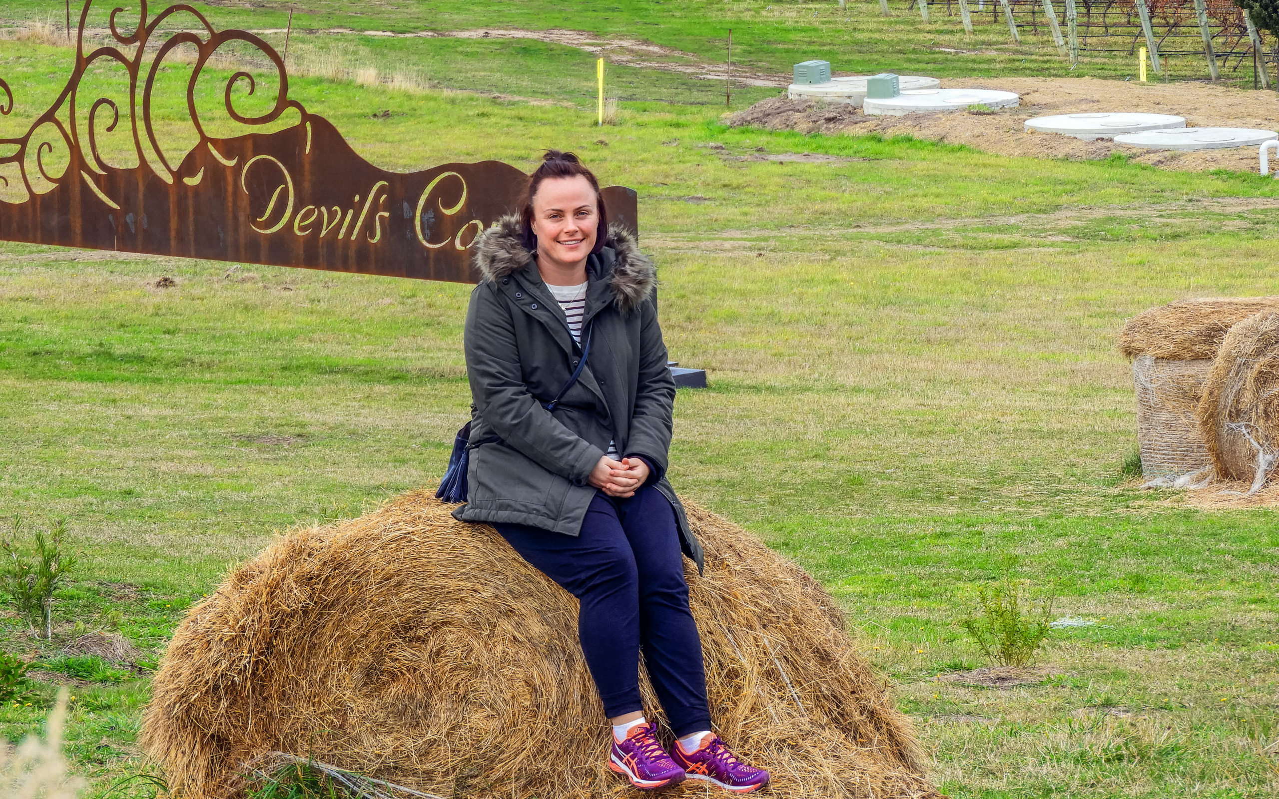 Louise Connolly at Devil's Corner, Tasmania