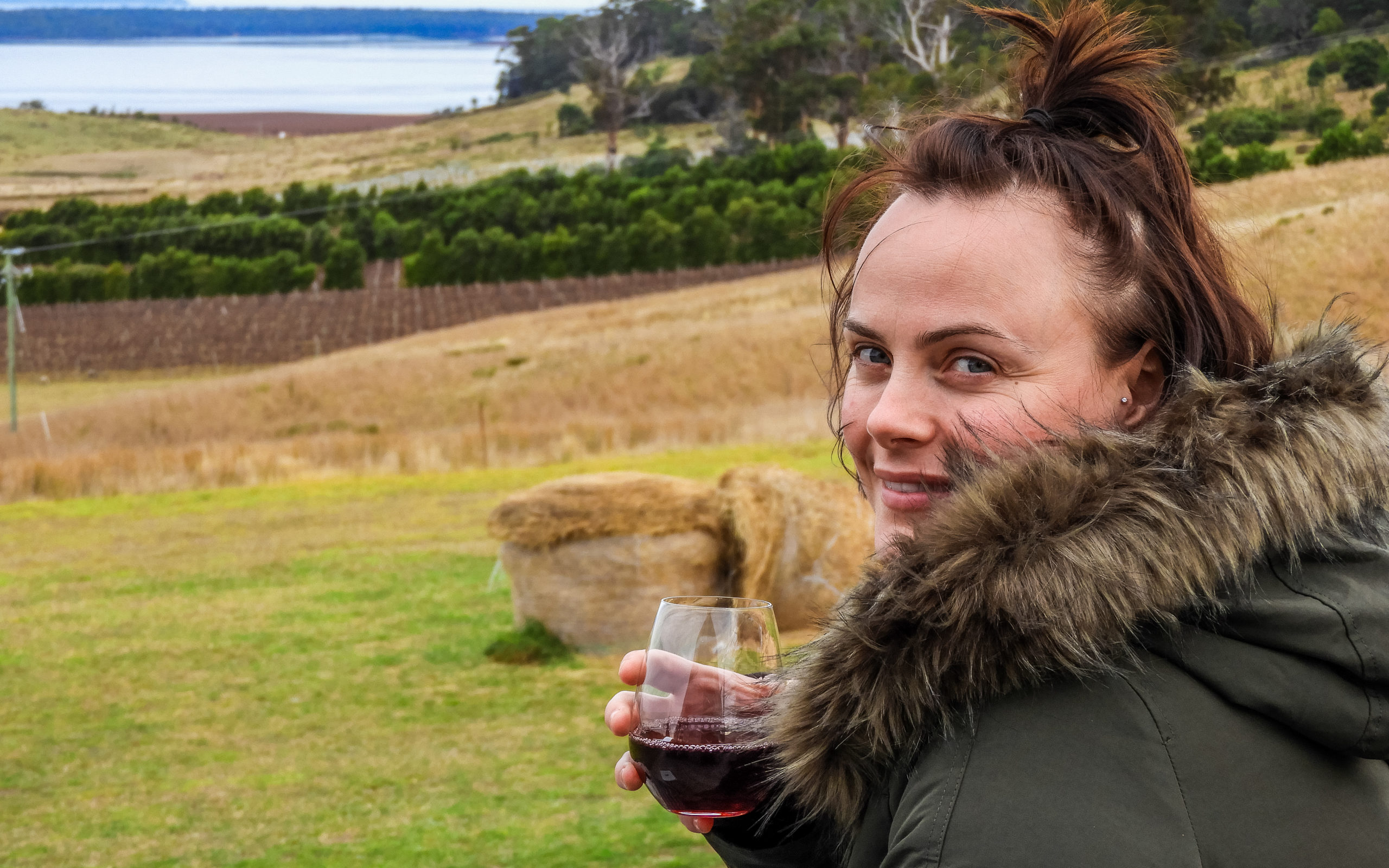 Louise Connolly at Devil's Corner Cellar, Tasmania
