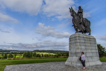 Louise Connolly in Bannockburn, Scotland