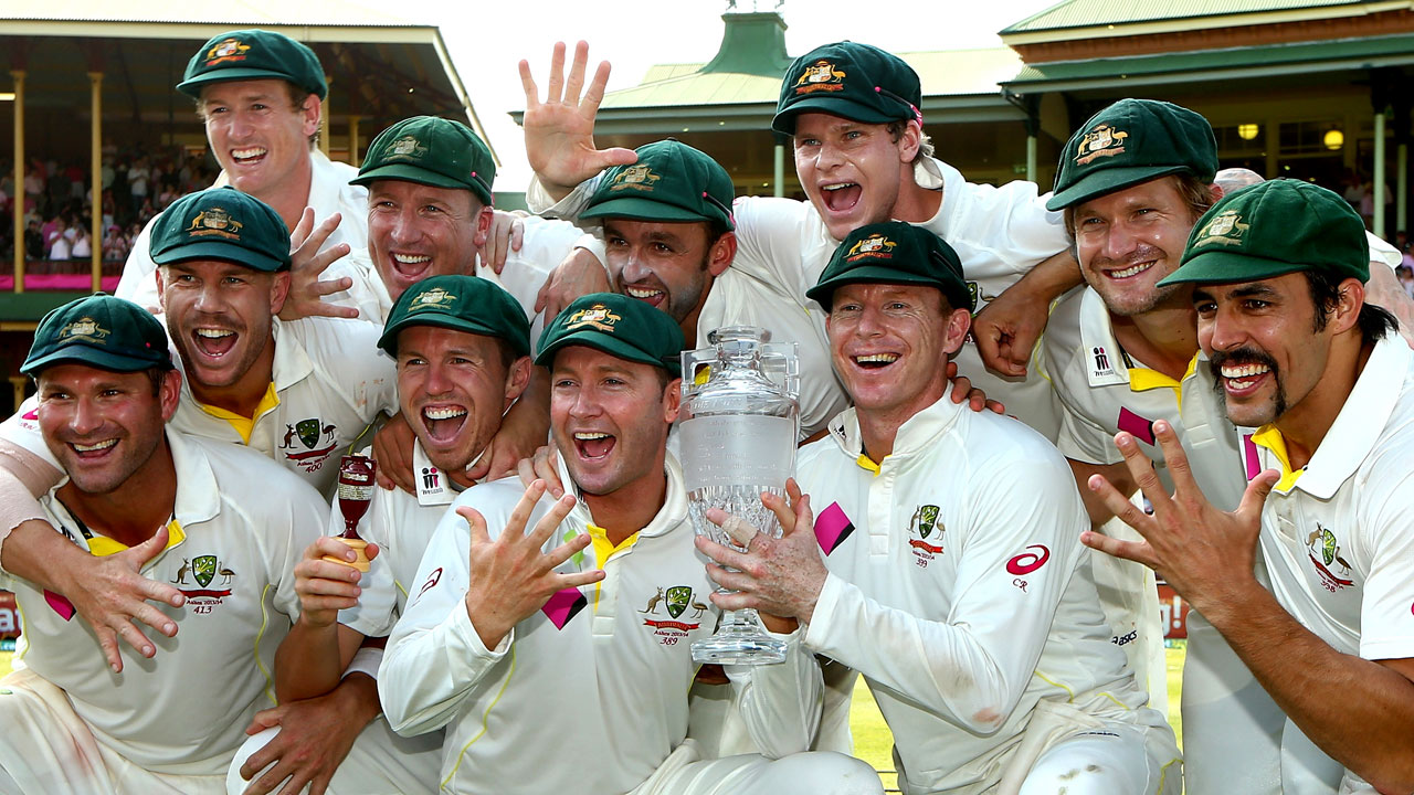 Australia celebrates an Ashes whitewash